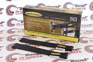 Smittybilt Smittybilt Adjustable Door Black Strap Pair For 87-18 Jeep Wrangler