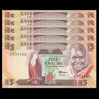 P-26 1986-1988 ZAMBIA 10 Kwacha UNC World Currency