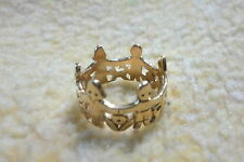 Retired James Avery  5.3 Grams Solid 14k Yellow Gold Paper Doll Ring Size 7