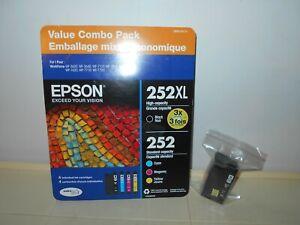 EPSON OEM GENUINE! 252XL BLACK & COLOR COMBO INK PACK 12/2021                 B2