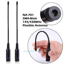 2x Dual-band 144/430MHz SMA-Male Radio Antenna for Yaesu VX-1R/ 2R Baofeng UV-3R
