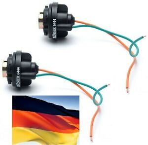Flosser Pigtail Wire 6444 Female Socket 1156 Two Harness Front Turn Signal Plug