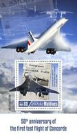 Maldives - 2019 Concorde Anniversary - Stamp Souvenir Sheet - MLD190207b