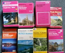 Ordance Survey Maps of Great Britain Collection - Lot of 54 Maps