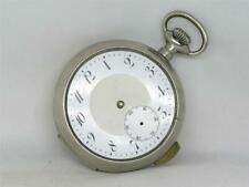 SCARCE 53MM DUNAND QUARTER PUSH REPEATER POCKET WATCH, SILVEROID CASE, RUNNING!
