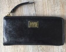Used Womens Genuine Coach Leather Black Wallet In Great Condition