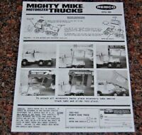 REMCO MIGHTY MIKE MOTORIZED TRUCKS INSTRUCTIONS (COPY)