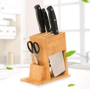 Bamboo Kitchen Tableware Knife Storage Racks Multi-function Drain Holder