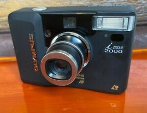 Excellent Olympus i Zoom 2000 Vintage APS Film Camera  - Black