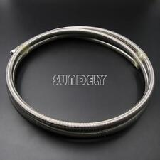 8MM STAINLESS STEEL BRAIDED PTFE TEFLON FUEL HOSE LINE OIL PETROL - 1Meter AU