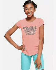 Justice Girl's Size 18 Plus FEELIN FINE Graphic Tee New with Tags