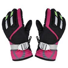 Children Warm Kids Windproof Ski Snowboard Gloves Mittens W/Adjustable Strap