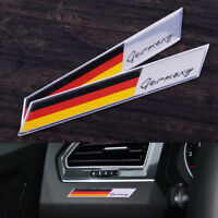 2pcs Aluminum Germany Flag Car Sticker Decal Emblem Badge Fender Decoration
