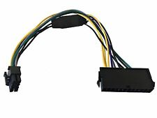 12 Inch 24-Pin to 8-Pin 18AWG ATX Power Supply Adapter Cable for Dell Computers