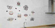 2x Küchendeko KAFFEE LOGOS Wandbild Wandtattoo Aufkleber Sticker Aufkleber NEU