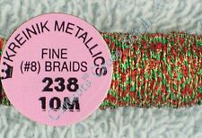 Kreinik Braid #8 238 Christmas Metallic Thread Fine 10M Cross Stitch Needlepoint