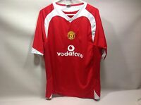 Gool Manchester United Vodaphone Soccer Footbol Red/White XL jersey
