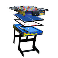 "48"" 4 in 1 Multi-function Table  Soccer Foosball Table Tennis Table US"