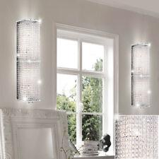 2x LUXE MUR Lumières cristal design Spot Chambre à coucher couloir chrome