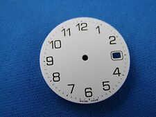 Blank Wrist Watch Dial Part -White- 25.5mm -Swiss Made- Date at 3  #309