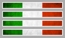 4 X BANDES DRAPEAU ITALIE 11cmX1,1cm AUTOCOLLANT STICKER AUTO AA158