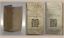 Publii Ovidii Nasonis Operum 1762? Ovids Werke 3 Bde in 1 Antike Klassiker xz