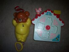 Vintage Fisher Price Music Box 2pc  Bear Crib Toy #450 Works Hung Hing Lot 1981