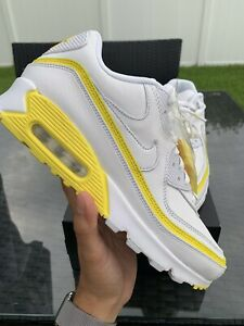 Nike Air Max 90 Size 10.5 Undefeated White Optic Yellow CJ7197-101