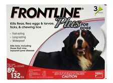 Frontline Plus for XL Dogs 89-132 lbs Flea and Tick Control Treatment 3-Dose