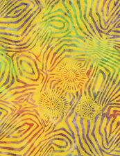 Yellow Lollipop Zebra Tonga Batik Fabric - Timeless Treasures - B2179-Pinata