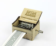 Brian Adams - Everything I Do / Hand Crank Paper Strip Wooden Music Box