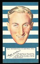 1953 Argus Football Portraits Geelong Geoff Williams card no 31