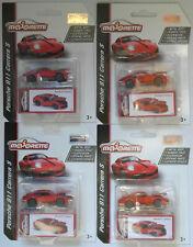 4 x Majorette Porsche 911 Carrera S rot TOY FAIR 2020 Neu/OVP Sportwagen Car red