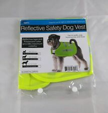 Dukes Small Reflective Tape Safety Dog Vest Fluorescent Yellow Color Safe Walks