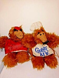 Vintage Alf Burger King Hand Puppet Plush Toy Lot  3 Chef & Baseball player 1988