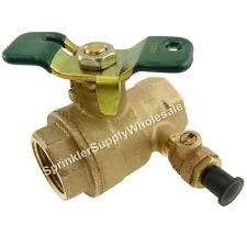 "Watts 1"" Ball Valve With Test Cock 0546725 Full Port FBV-TC-TH Bronze"