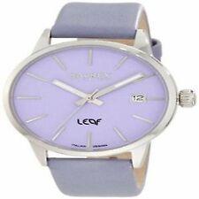 Haurex Italy Womens 6A363DL1 Leaf Lilac Dial Luminous Hands Date Watch