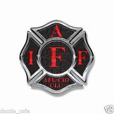 IAFF Sticker Decals (2 pack) Firefighter Int'l Maltese Cross Sticker Black w/Red