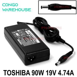 19V 4.74A 90W Original Charger AC Adapter For Toshiba Qosmio F60 F750 F755 F45