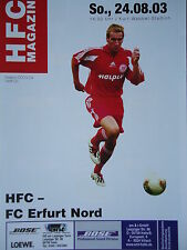 Programm 2003/04 HFC Hallescher FC - Erfurt Nord