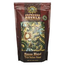 New ESPRESSO ROYALE House Blend True Italian Roast Coffee 1lb Bag Whole Bean