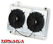 Yonaka 06-11 Honda Civic Si Polished Rad Radiator w// Fans Shroud