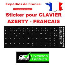 Autocollant Stickers Etiquette AZERTY Pour Clavier Ordinateur PC Touche Français