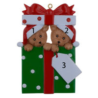 MAXORA Personalized Ornament Bear Family of 2 3 4 5 Christmas Gift