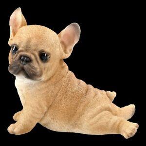 Hunde Figur - Französische Bulldogge Welpe - niedliches Hundekind Welpe Deko