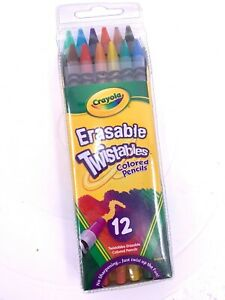 Twistables Erasable Colored Pencils, 12 Assorted Colors/Pack (A-2)