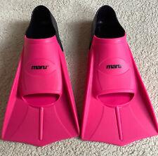 Maru Training Fins Flippers Pink Kids Ladies 39-40 EU 5.5-6.5 UK Silicone V860