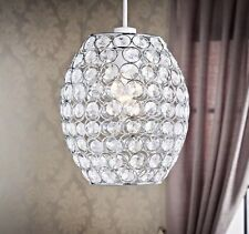 Clear gems with silver wire Verona Oval Pendant Light Shade .
