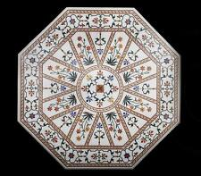 """36"""" Marble Dining Table Top Coffee Inlay Marquetry Pietra Dura Gifts Mosaic New"""
