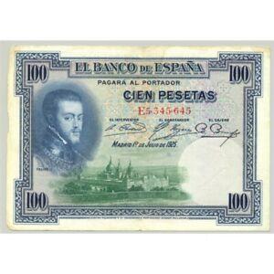 ESPAGNE 100 PESETAS 01-07-1925 SERIE E TB